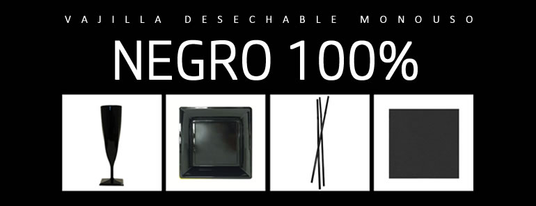negro total. ideas decoracion mesas desechables o monouso